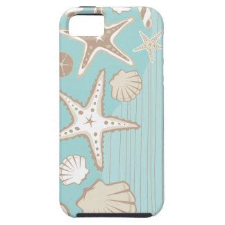 Van de het strandkust van de zeeschelp iphonedekki tough iPhone 5 hoesje
