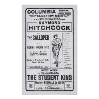 Van de het theaterkrant van Raymond Hitchcock 1906 Poster