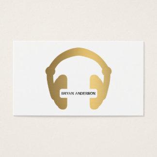 Van de Hoofdtelefoon van Faux Gouden DJ- Visitekaartjes