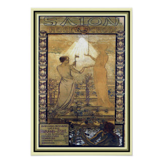 "Van de Jugendstil ""Salon DE La Rose Croix"" Druk 13 Poster"