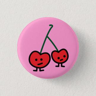 Van de kersenvrienden van kersen wilde het paar ronde button 3,2 cm