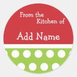 """""""Van de Keuken van"""" de Sticker van Kerstmis"""