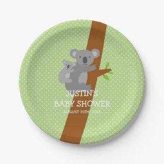 Van de koalastippen van de douane het baby papieren bordje