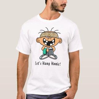 """Van de koevoet de """"hang"""" T-shirt Homie"""