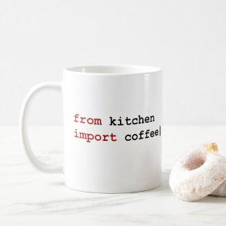van de koffie van de keukeninvoer - de mok van de