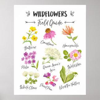 Van de kunst het Wilde bloemen van Wildflowers Poster