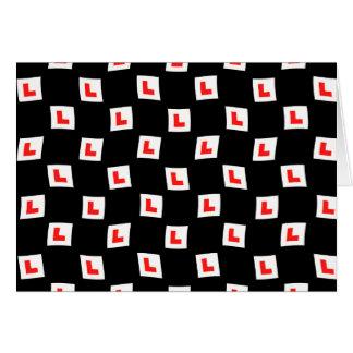 Van de l-bord het behang zwarte achtergrond wenskaart