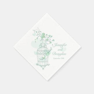 Van de liefdevogels van het huwelijk het papieren servet