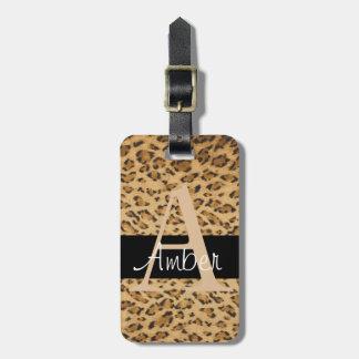 Van de luipaard van de Druk het Label van de Kofferlabel