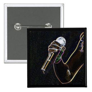 van de micro- van het de zangerlied microfoonmuzie vierkante button 5,1 cm