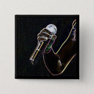 van de micro- van het de zangerlied vierkante button 5,1 cm