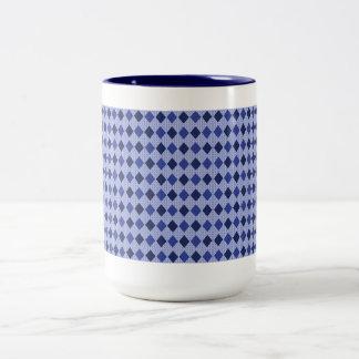 Van de modieus-blauw-diamant (c) tweekleurige koffiemok