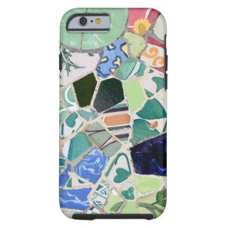 Van de mozaïekenVibe van Guell van het park iPhone Tough iPhone 6 Hoesje