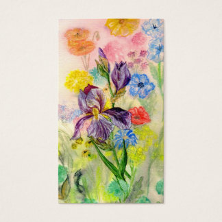 """Van de """"paarse Iris"""" het Visitekaartje Visitekaartjes"""