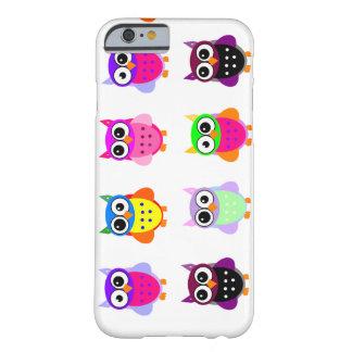 Van de partij retro kawaii van de uil leuke kleurr barely there iPhone 6 hoesje