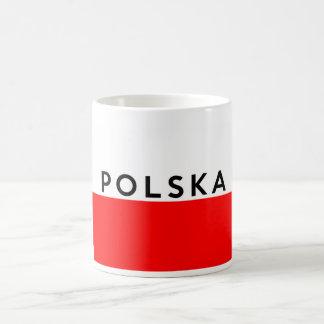 van de polskavlag van Polen van het het Koffiemok