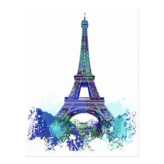 Van de reisEiffel van La de kleurenplons Briefkaart