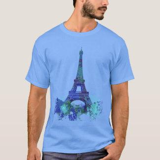 Van de reisEiffel van La de kleurenplons T Shirt