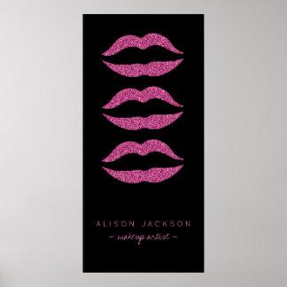 Van de salon hete roze lippen van de schoonheid poster