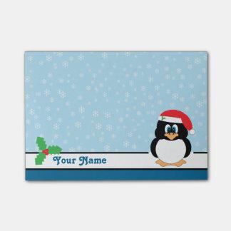 Van de sneeuwvlok van de Pinguïn van Kerstmis Post-it® Notes