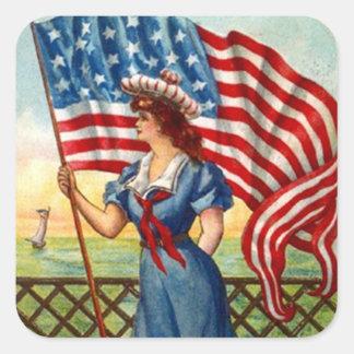 Van de sticker Vintage Patriottische de Oude