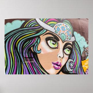 Van de straatkunst/graffiti van Auckland poster