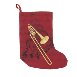 Van de trombone (baarzen) de muziekkous small kerstsok