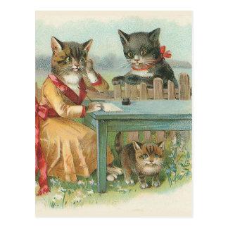 """Van de """"van de Kat Familie"""" het Vintage Briefkaart"""