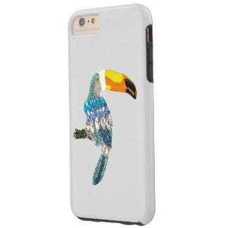 Van de vogel het kleurrijke fonkelingen en juwelen tough iPhone 6 plus hoesje