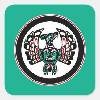Van de Vreedzame kustHaida van het noordwesten de Vierkante Sticker