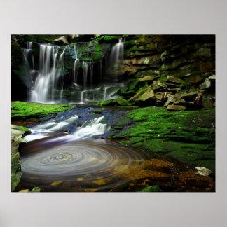 Van de West- watervallen van Elakala Virginia Poster