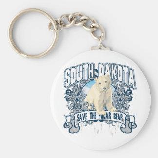 Van de Zuid- Ijsbeer Dakota Basic Ronde Button Sleutelhanger