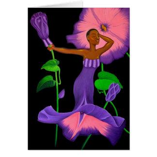"""Van de """"zwarte Orchidee"""" het lege wenskaart"""