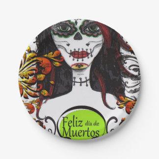 Van diaDE Los Muertos DOD van Feliz de Borden van Papieren Bordje