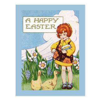 """Van een """"gelukkige Pasen"""" de Wijnoogst Briefkaart"""
