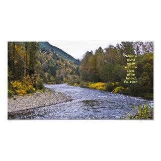 Van Fall River van de Druk w/Scripture- Vers Foto Afdruk