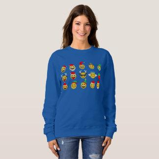 van gelukkige het sweatshirt de gezichtenvrouwen