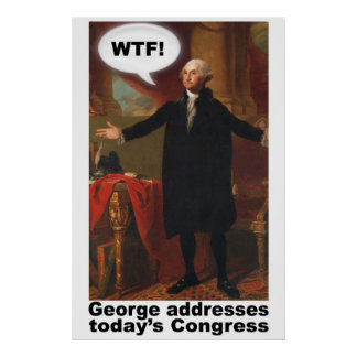 Van George Washington WTF (met titel) het Poster