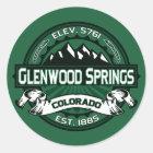 """Van Glenwood Springs """"Colorado het Groene"""" Logo Ronde Sticker"""