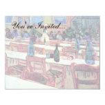 Van Gogh - Binnenland van Restaurant Carrel in 10,8x13,9 Uitnodiging Kaart