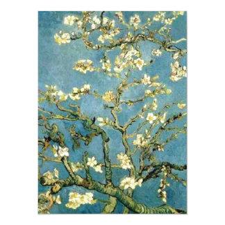Van Gogh Blossoming het Vintage Art. van de Boom 13,9x19,1 Uitnodiging Kaart