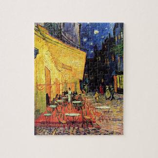 Van Gogh Cafe Terras bij Nacht Legpuzzel
