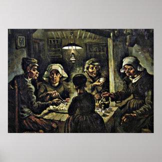 Van Gogh - de Eters van de Aardappel Poster
