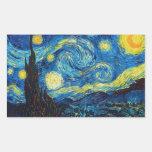 Van Gogh de Starry Stickers van de Nacht