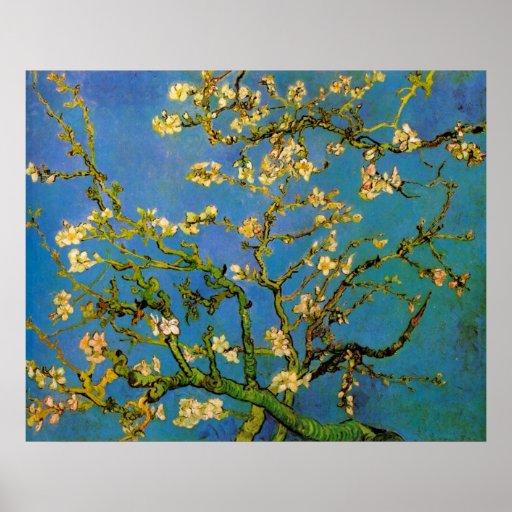 Van Gogh; De tot bloei komende Boom van de Amandel Afdruk