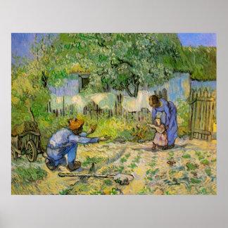 Van Gogh, Eerste Stappen, het Vintage Art. van het Afdruk