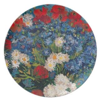 Van Gogh & Elizabeth Flower - Dessert & het Melamine+bord