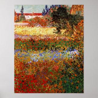 Van Gogh het Fijne Art. Flowering van de Tuin Poster