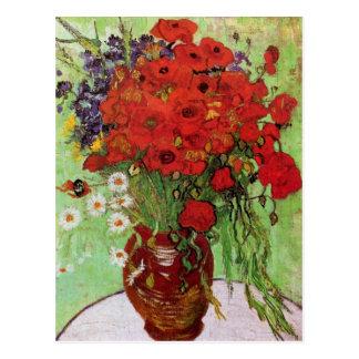 Van Gogh het Red Briefkaart van Papavers en van