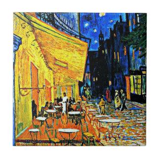 Van Gogh - het Terras van de Koffie bij Nacht Keramisch Tegeltje
